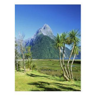 Cartão Postal Nova Zelândia, ilha sul, pico da mitra,
