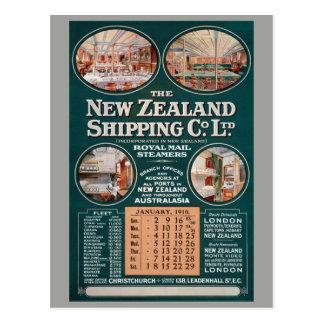 Cartão Postal Nova Zelândia que envia o poster vintage do Co.
