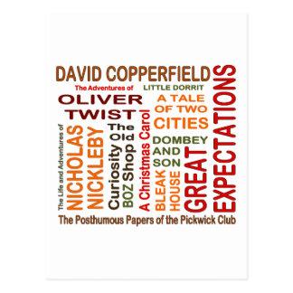 Cartão Postal Novelas de Charles Dickens
