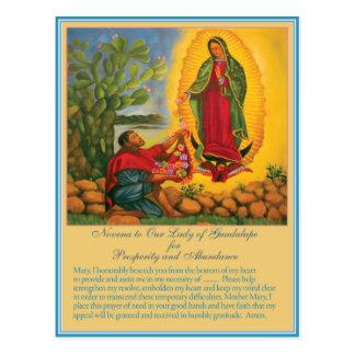 Cartão Postal Novena a nossa senhora de Guadalupe