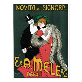 Cartão Postal Novita por o Signora por Leonetto Cappiello