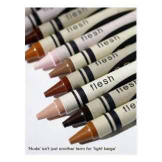"""Cartão Postal """"Nu"""" não é apenas um outro termo para 'o beige"""