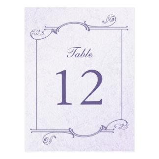 Cartão Postal Número aquilégia da mesa do buquê (cartão)