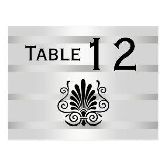 Cartão Postal Número branco da mesa do preto H da pena do art