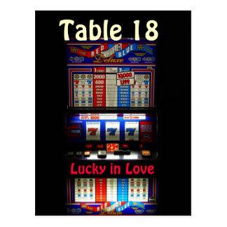 Cartão Postal Número da mesa de slot machine do casino -