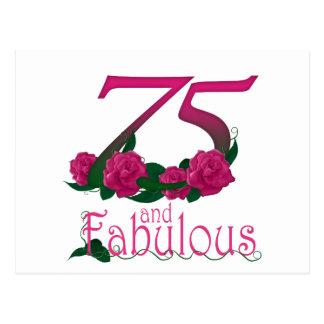 Cartão Postal número floral cor-de-rosa fabuloso da idade do