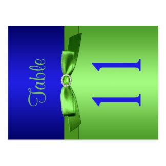 Cartão Postal Número frente e verso do limão e da mesa dos azuis