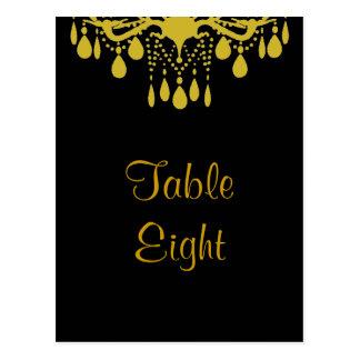 Cartão Postal Número grande da mesa do salão de baile