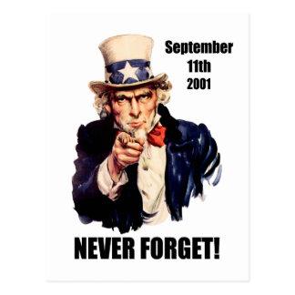 Cartão Postal Nunca esqueça 9/11