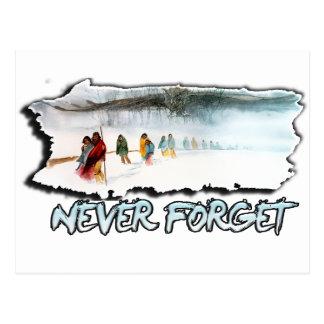 Cartão Postal Nunca esqueça a fuga dos rasgos
