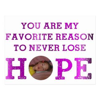 Cartão Postal Nunca perca a esperança - Kaitlyn