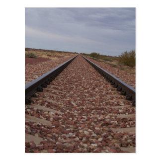 Cartão Postal Nunca terminando trilhas de estrada de ferro