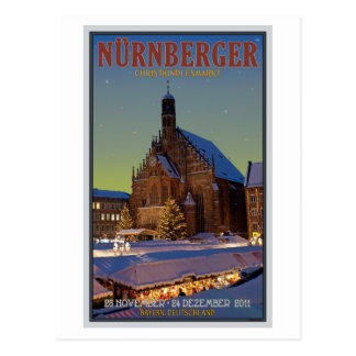 Cartão Postal Nürnberg Frauenkirche & o Christkindlmarkt
