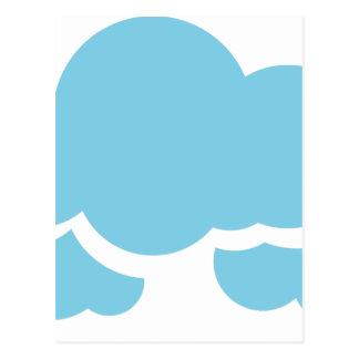 Cartão Postal Nuvens azuis