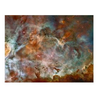 Cartão Postal Nuvens da obscuridade da nebulosa de Carina