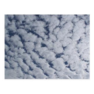 Cartão Postal Nuvens de Altocumulus