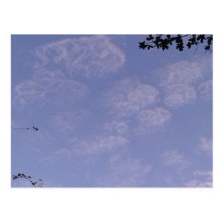 Cartão Postal Nuvens estranhas 1