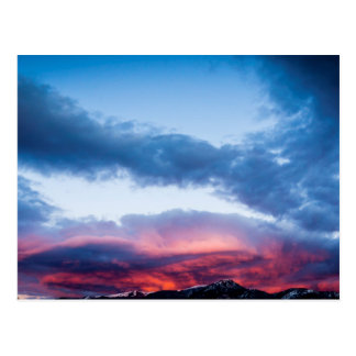 Cartão Postal Nuvens impetuosas sobre o Wasatch