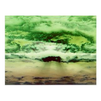 Cartão Postal Nuvens verdes