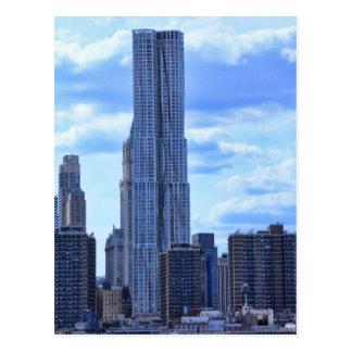 Cartão Postal NY por Gehry/8 ruas do abeto vermelho do East