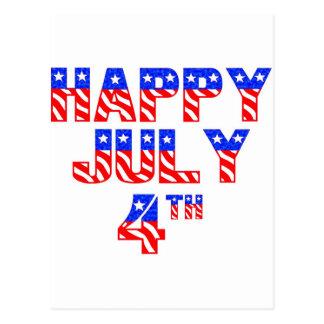 Cartão Postal O 4 de julho feliz