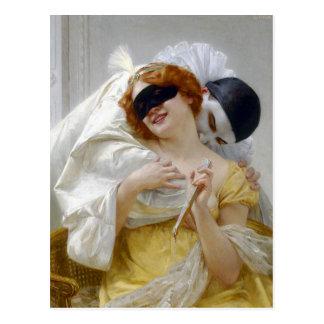 Cartão Postal O abraço de Pierrot por Seignac