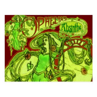 Cartão Postal O absinto de Ophelia