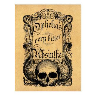 Cartão Postal O absinto muito amargo de Ophelia