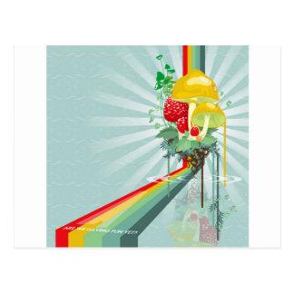 Cartão Postal O abstrato colore o arco-íris crescente