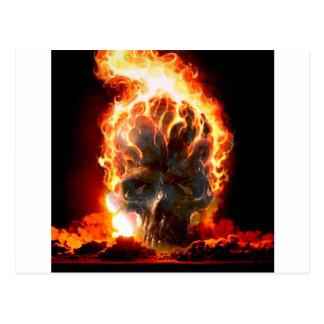 Cartão Postal O abstrato colore o crânio do inferno