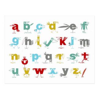 Cartão Postal O alfabeto do pelicano