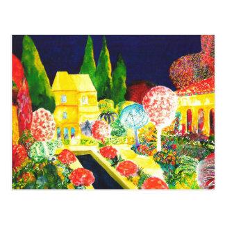 Cartão Postal O Alhambra em a noite