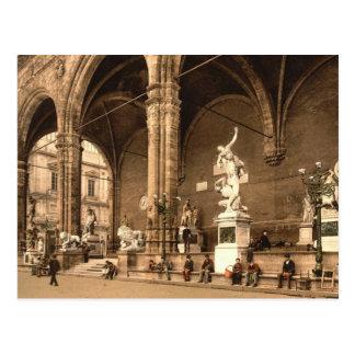 Cartão Postal O alojamento dos lanceiros. Florença Italia