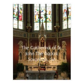 Cartão Postal O altar da catedral de St John o baptista