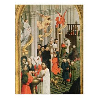 Cartão Postal O Altarpiece de sete sacramentos