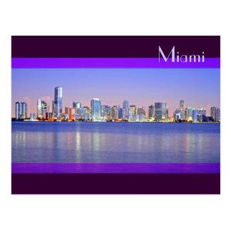 Cartão Postal O alvorecer da cidade mágica: Miami, Florida