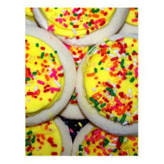 Cartão Postal O amarelo congelou os biscoitos de açúcar