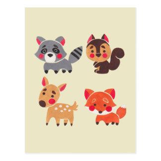 Cartão Postal O amigo feliz da floresta