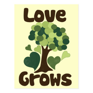 Cartão Postal O amor cresce