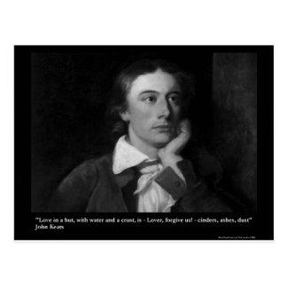 Cartão Postal O amor de Keats é minhas camisetas etc. dos