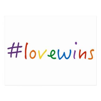 Cartão Postal o amor dos #lovewins ganha o orgulho da igualdade