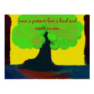 Cartão Postal O amor é paciente
