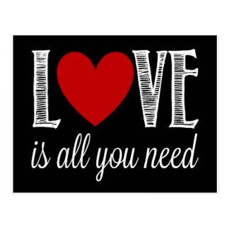 Cartão Postal O amor é tudo que você precisa