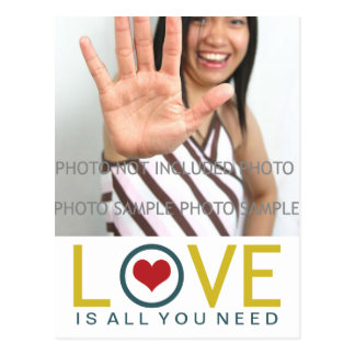 Cartão Postal O amor é tudo que você precisa a foto vermelha do