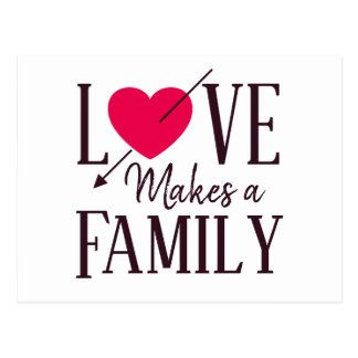 Cartão Postal O amor faz uma família - anúncios da adopção