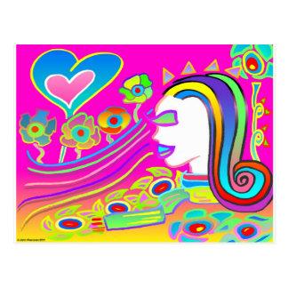 Cartão Postal O amor florescerá: Espaço ideal
