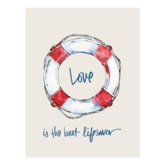 Cartão Postal O amor litoral das citações | é o melhor lifesaver