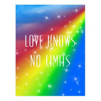 Cartão Postal O amor não sabe nenhum limite