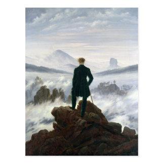 Cartão Postal O andarilho acima do mar da névoa