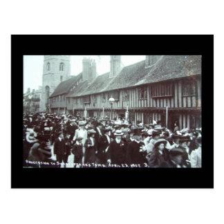Cartão Postal O aniversário 1907 de Shakespeare, Stratford-em